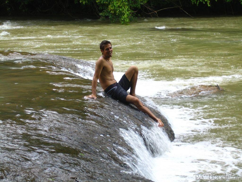 De relax en las cascadas Agua Azul