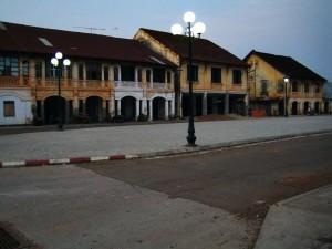 Casas coloniales en Savannakhet