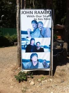 Rodaje de Rambo