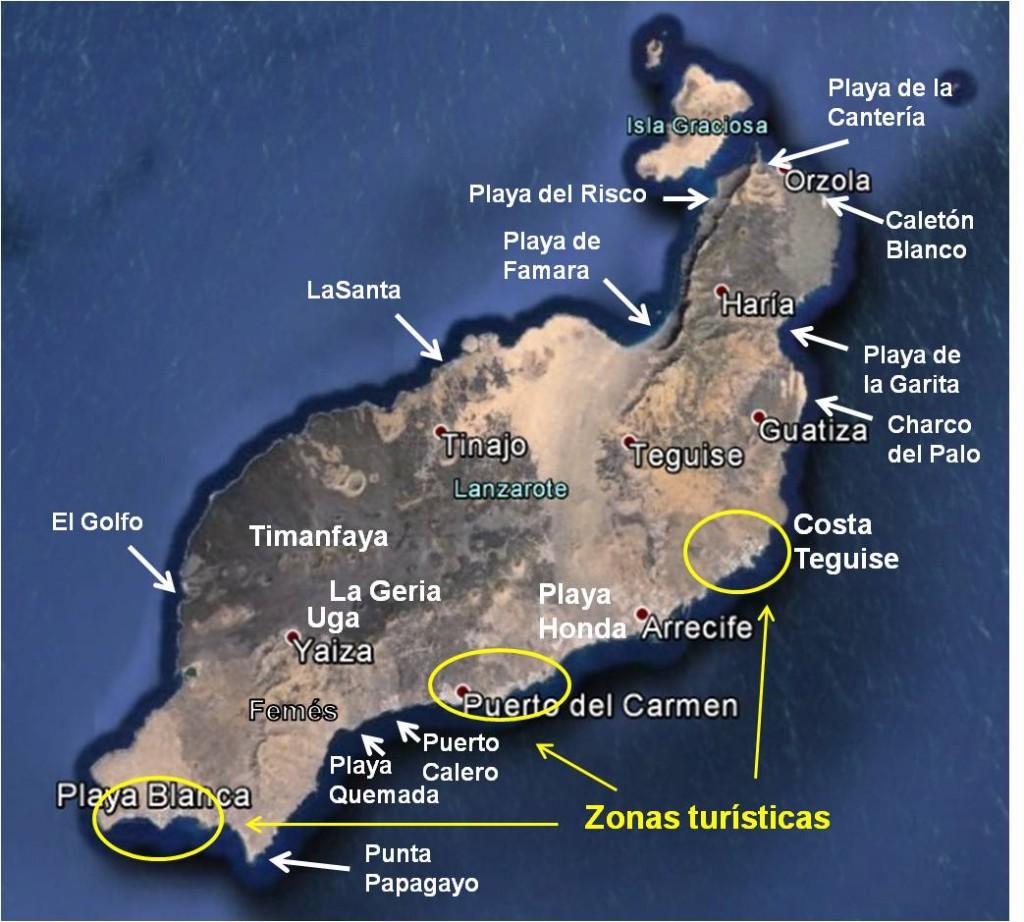 Mapa de Lanzarote