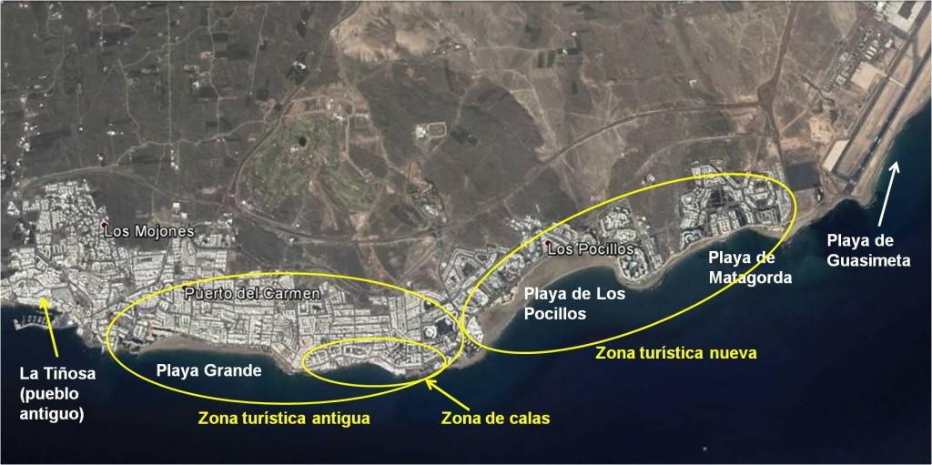 Mapa de Puerto del Carmen