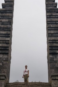 Puerta principal de Candi Cetho