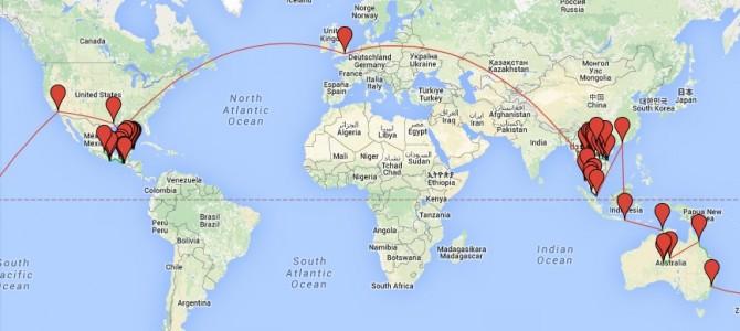 La vuelta al mundo en 7 meses: mi ruta