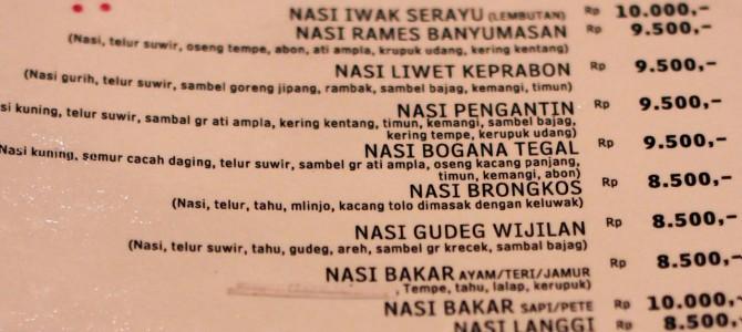 No mueras de hambre! Aprende indonesio de supervivencia