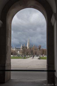 Ayuntamiento de Viena desde el Hofburg